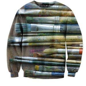 Sweaters - Beloved paintbrush sweater